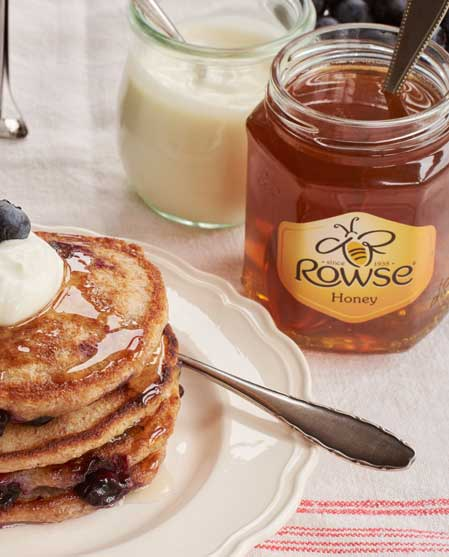 Rowse honey with pancakes
