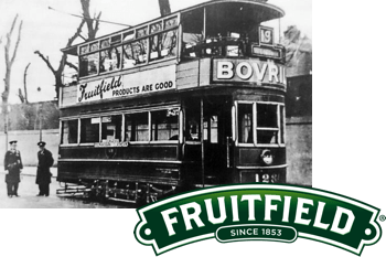 fruitfield logo and product