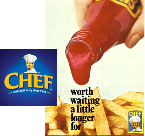 chef logo and product