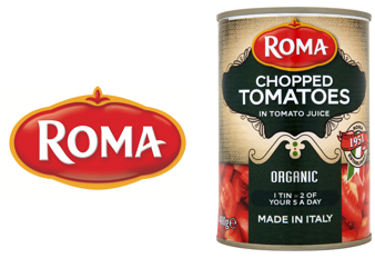 roma logo and product