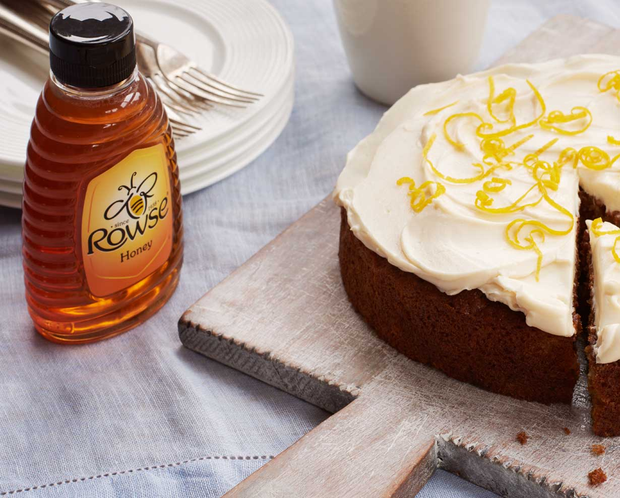 Rowse honey with cake