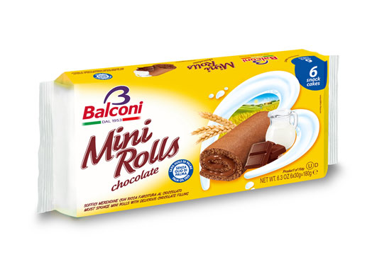 Balconi chocolate mini rolls