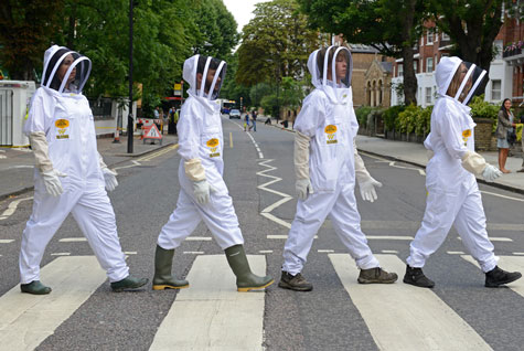 Bee keepers campaign on road